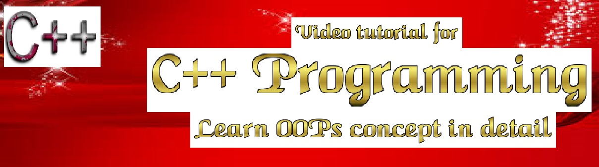Video for Learning Object Oriented Programming in C++