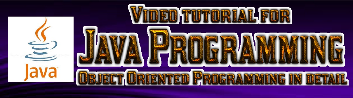 Video for Object Oriented Programming in Java